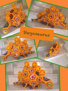 Heidi Bears African Flower Stegosaurs Www.facebook.com/Hookedonhandicrafts