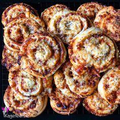 Homemade Pizza snails - Hjemmelavede pizzasnegle til kanotur