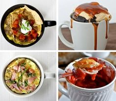 10 Easy Microwave Recipes You Can Cook In A Mug  - seriously? genius, just plain fucking genius