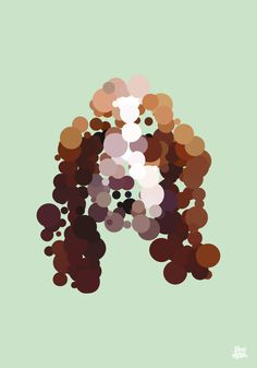 Dots and Dogs art print. Basset Hound by DesignedbyYoni on Etsy