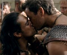Agron (Dan Feuerriegel) and Nasir (Pana Hema Taylor).Nagron Spartacus:War of the Damned Spartacus Series, Spartacus Blood And Sand, Spartacus Workout, Pana Hema Taylor, Male Male, Men Kissing, Tv Couples, Hbo Series, Men Stuff