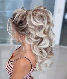 20 diy ponytail hairstyle ideas for you 79 - Frisur Ideen High Ponytail Hairstyles, High Ponytails, Wedding Hairstyles For Long Hair, Wedding Hair And Makeup, Bride Hairstyles, Hair Makeup, Hairstyle Ideas, Hair Ponytail, Wedding Updo