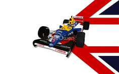 Nigel Mansell - Williams Renault FW14B | Poster
