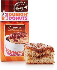 Dunkin Donut - Caramel Coffee Cake, coffee