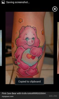 Care Bear tattoo.. bit bloody cute!