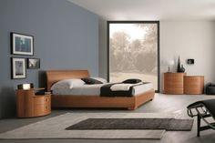 Camera da letto completa in noce canaletto 104 - comodino Elti ...