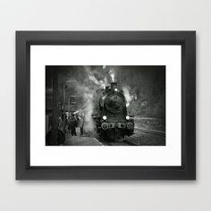 Steam Engine Framed Art Print by Regina Hoer - $35.00