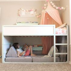 Babyzimmer Einrichten 30 Cozy Reading Room For Your Interior Home Design Though having extra space i Bed For Girls Room, Teen Girl Bedrooms, Big Girl Rooms, Boy Room, Ikea Girls Bedroom, Little Girl Beds, Baby Bedroom, Paint For Girls Room, Twin Bed For Girls