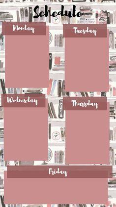 Schedule Design, Schedule Templates, Study Schedule, School Schedule, Aesthetic Pastel Wallpaper, Aesthetic Wallpapers, Instagram Frame Template, Bullet Journal Ideas Pages, Instagram Highlight Icons