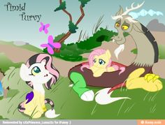 OMGOSH!! FLUTTERCORD CHILD!!! IMGOINGTODIEOFAWESOME! <3 new otp. I actually think it should be celestia and discord when fluttershy is with Big Mac
