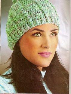 Edivana Croche  Toucas Adulto - diagram Toucas De Croche Feminina a77b934908e