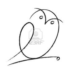 simple owl tattoo - Google Search  -  Another tattoo pattern that I'd love to embroider. This one sized down just a little and embroiderd on the collar or cuff of a white shirt. That would be so fine...  Lou