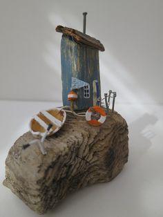 winzige Treibholz Skulptur Fishermans Cottage.