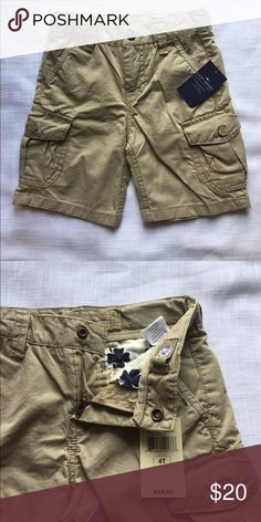 NWT Lucky Brand cargo khaki shorts 4t NWT.  4t cargo khaki shorts with adjustable waist.  Pet/smoke free home. Lucky Brand Bottoms Shorts