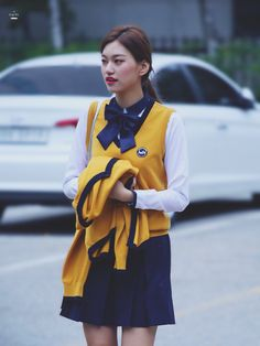 Weki Meki - Doyeon Sopa School, Kim Doyeon, Korean Actresses, School Uniform, Nayeon, Korean Beauty, Korean Singer, Kpop Girls, Girl Group