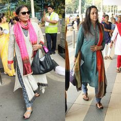 We saw veteran actors Hema Malini and Shabana Azmi at the airport yesterday and they proved their charm and charisma is intact as they looked radiant in Indian wear. by #Filmfare. Shared by #BollywoodScope