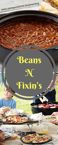 You can cook beans right on your grill with a Rockcrok®. Prep your grill for indirect cooking on medium heat. Then combine beans with your favorite flavors. Make your beans Tex-Mex flavored with chopped green chilies, chipotle-flavored with bell peppers, or barbecue flavored with BBQ seasonings and bacon.   Like my Facebook page for even more recipe ideas: www.facebook.com/jennifermentingspamperedchefpage