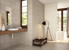 "Bathroom tiles, ""Concrete"", 28x85, by Baldocer."