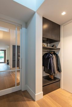 Interior of Veenendaal - - Interior of Veenendaal - - Living Room White, Home And Living, Room Interior, Interior Design Living Room, Garderobe Design, Hotel Room Design, Inside Design, Industrial House, Entryway Decor
