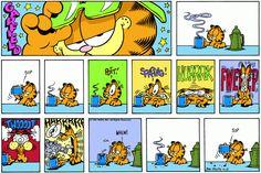 Read today's Garfield comic strip, or search for your favorite! Garfield Cartoon, Garfield And Odie, Garfield Comics, Hagar The Horrible, Comic Book Layout, Comic Art, Comic Books, Pokemon, Jim Davis