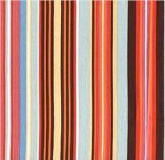Stroller Pads Prints - Socialite Stripes  by MyMonkeyMoo