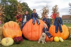 Here is a pic of my kids about 5 years ago with my mother-in-laws giant pumpkins...not sure who got a hold of it to pin here...but its one of my favorites!!!