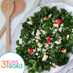 Kale Detox Salad with a Lemon Vinaigrette!  Serves: 4 Ingredients Kale Salad 4 cups kale, torn, and finely chopped 2 cups apples, your choice, diced 1/2 cup slivered almonds (or chopped walnuts, pecans will also work) 1/2 cup feta cheese Lemon Vinaigrette 1/4 cup honey 1/4 cup rice wine vinegar 1/2 cup olive oil 1 tsp dry mustard 2 tbsp lemon juice, fresh lemon suggested 1/4 tsp onion powder Kosher salt and pepper, to taste
