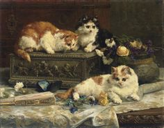 In the Boudoir Private Collection victorian cats