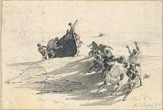 John Singer Sargent - Men Hauling Lifeboat onto Beach