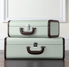 suitcases set of 2 - silver sage, beautiful