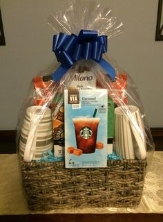 Coffee Gift Basket, Gift basket ideas, Corporate Gifts