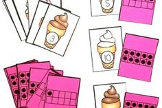 Ice Cream Number and Ten Frame Match