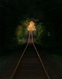 Moccasin ➳Tracks;Rail Tree Tunnel, France photo via salpalsd on imgfave