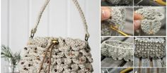 This is an adorable crochet clutch (handbag) made from the crocodile stitch. I am looking for some handbags for the breezy spring outing, and really adore