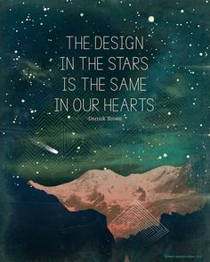 Design in the Stars, Typography Print, Inspirational Quote. $22.00, via Etsy.