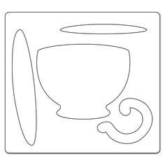 Quilting Templates, Applique Templates, Applique Patterns, Applique Quilts, Quilt Patterns, Teapot Crafts, Paper Folding Crafts, Felt Crafts Patterns, Tea Party Baby Shower