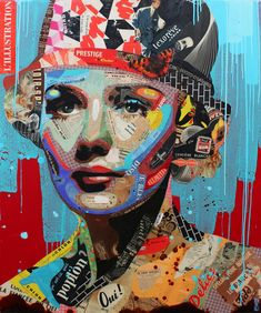 "Artist : Arnaud Bauville  ""JE NE SUS D'ELLE QUE SON PRÉNOM"" 100 x 120 cm (39,4 inches x 47,2 inches )"
