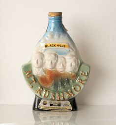 Antique Whiskey Bottle Collectors | Vintage Mount Rushmore Jim Beam Collectible Liquor Bottle by Uptown ...