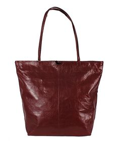 Another great find on #zulily! Burgundy Leather Tote #zulilyfinds