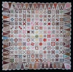 """A belated Happy Birthday to Jane Stickle, who was born April 8, 1817 in Shaftsbury, Vermont. The 80"""" x 80"""" sampler quilt she completed in 1863 is now widely known as the """"Dear Jane"""" quilt and is in the collection of the Bennington Museum. Have you tried your hand at a Dear Jane quilt, or even just one of her 169 block patterns?"""