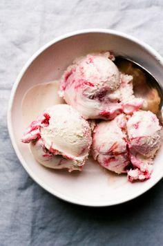 Vegan White Chocolate Rhubarb Ripple Ice Cream — Apt. 2B Baking Co.
