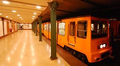 Budapest, Hungary the oldest Metro Line in Hungary M1 line it was opened 1896 rebuilt 1970> Station name Vorosmarty Square  - so Amazing beautiful