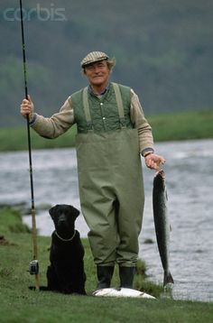 Fisherman with His Dog