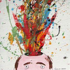 Pollock brain by Laurina Paperina  Via www.laurinapaperina.com