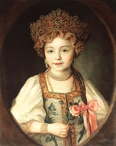 WOMAN'S HEADDRESS ( KOKOSHNIK) makes woman else beauty ,granddaughter of the empress of the Catherine Great-princess Alexandrа