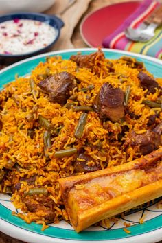 rice recipe iranian food Loobia Polo - Persian Lamb and Green Bean Rice - I got it from my Maman Lamb Recipes, Rice Recipes, Meat Recipes, Indian Food Recipes, Cooking Recipes, Ethnic Recipes, Dessert Recipes, Icing Recipes, Carrot Recipes