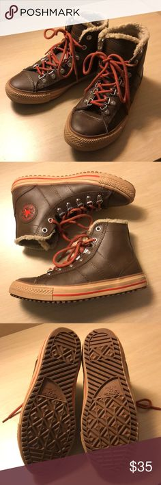6e0cec2f4b NWOT Leather Converse Boots NWOT Like new. I bought these on poshmark but  changed