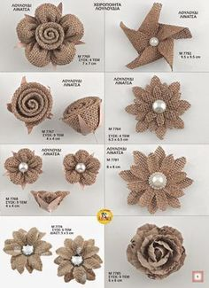 Pajama Crafters: How to Make Burlap RosesPajama Crafters: How to Make Burlap RosesNo-Sew DIY Burlap Roses Six Clever Sisters fashion style stylish l .No-Sew DIY Burlap Roses Six Clever Sisters fashion style stylish Twine Flowers, Shabby Flowers, Diy Flowers, Flower Diy, Origami Flowers, Bridal Flowers, Flower Making, Burlap Flowers, Fabric Flowers