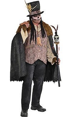 Adult Witch Doctor Costume Plus Size