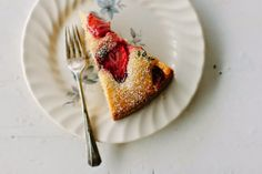 my darling lemon thyme: gluten-free strawberry + thyme cake recipe